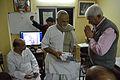 Mrinal Kumar Bandyopadhyay Greets Mihir Sengupta - Opening Ceremony - PAD 3rd Free Short Term Course on Photoshop - Kolkata 2016-02-06 0926.JPG