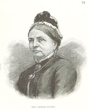 Thomas Austin - Elizabeth Phillips Harding, wife of Thomas Austin