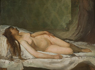 Naked woman asleep