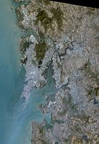 Mumbai, metropolitan region, satellite image, Landsat-5, 2011-01-30