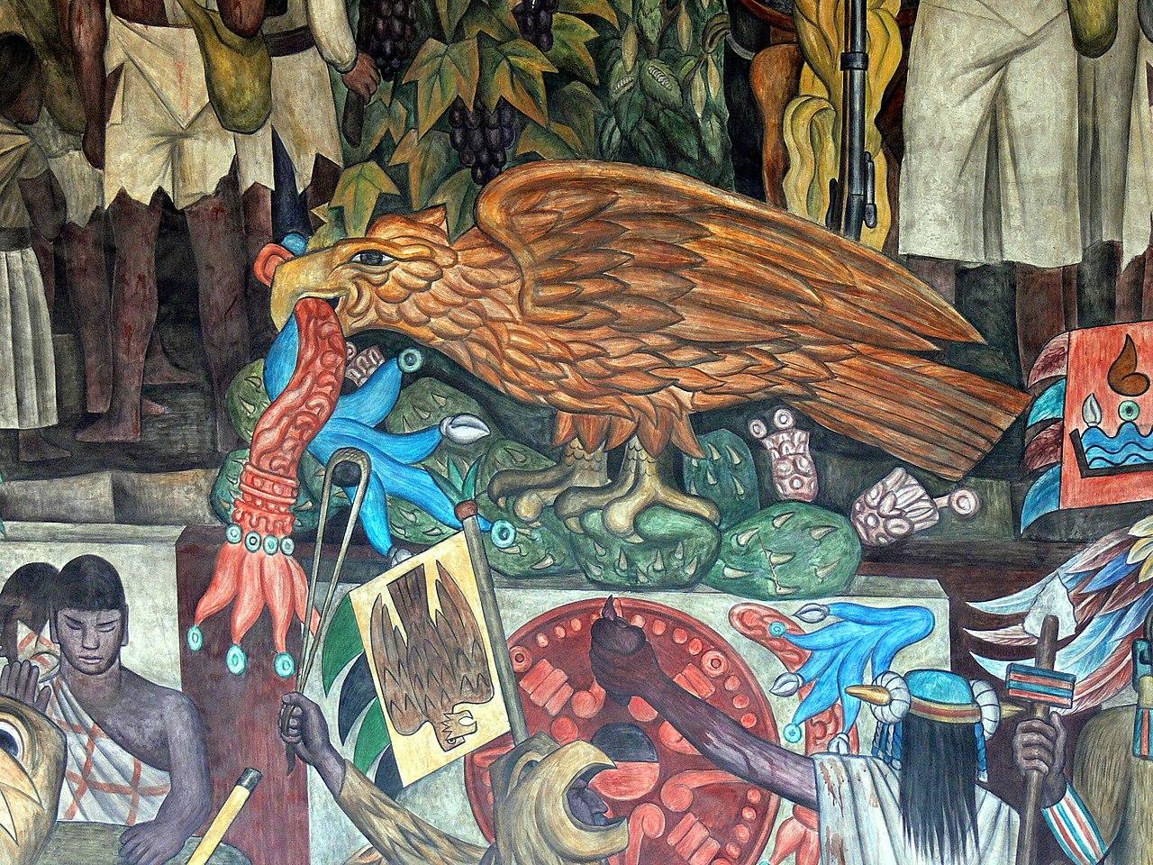 File murales rivera treppenhaus 2 mexikanischer adler for Mural de rivera