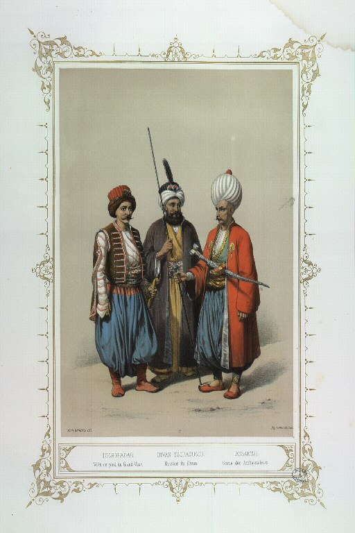 Musée des anciens costumes turcs d'Istanbul (Jean Brindisi, 1855) - 17 - Tschohadar, Divan Tschaousch, Iassaktji