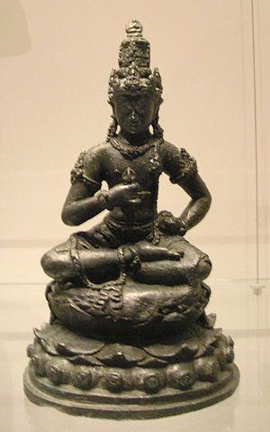 Kediri Kingdom -  Vajrasattva. Eastern Java, Kediri period, 10th–11th century CE, bronze, 19.5 x 11.5 cm