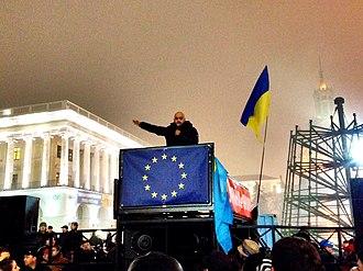 Timeline of the Euromaidan - Mustafa Nayem on Euromaidan, 23 November 2013