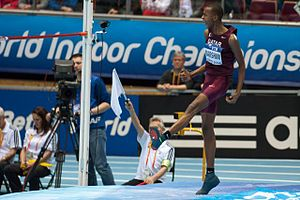 2014 IAAF World Indoor Championships – Men's high jump - Gold medalist, Mutaz Essa Barshim