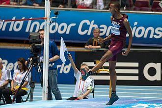 2014 IAAF World Indoor Championships – Men's high jump - Gold medalist, Mutaz Essa Barshim