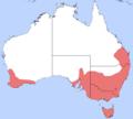 Myrmecia pilosula distribution.png