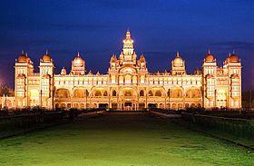 Palais de Mysore la nuit