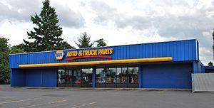 National Automotive Parts Association - NAPA retail store in a suburb of Portland, Oregon