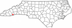 Location of Rosman, North Carolina