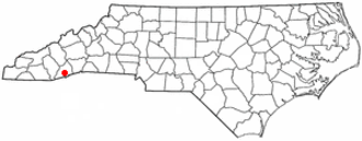 Rosman, North Carolina - Image: NC Map doton Rosman