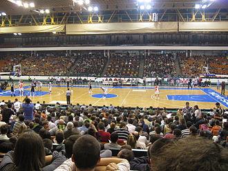 KK Vojvodina Srbijagas - KK Vojvodina Srbijagas against KK Partizan in 2009.