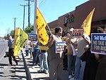 NM Unions Protest John McCain at Hotel Albuquerque (2673717286).jpg