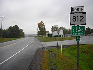 New York State Route 812 - Northbound on NY 812 in Pitcairn, just north of where NY 812 leaves NY 3
