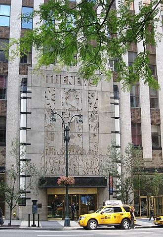 Daily News Building - Image: NY Daily News door jeh