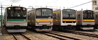 Nambu Line - Nambu Line rolling stock at Nakahara Depot