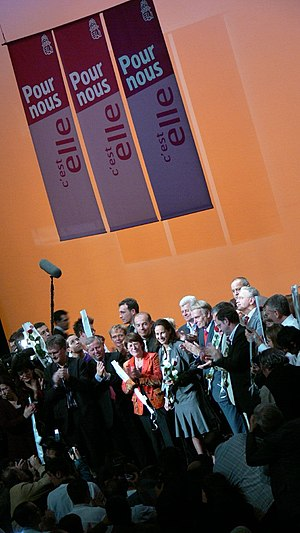 French Socialist Party presidential primary, 2006 - Royal at a rally in Nantes on the eve of the primary