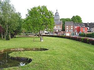 Nassogne - Nassogne: near St Monon's church