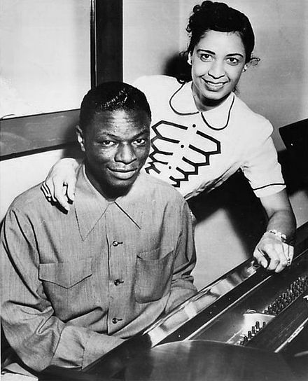 Nat and his second wife, Maria, 1951 Nat and Maria Cole 1951.jpg