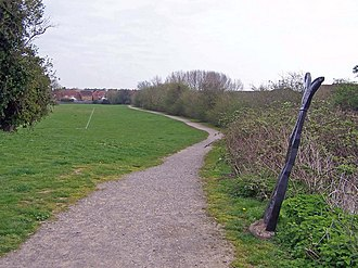 EV5 Via Romea Francigena - Image: National Cycle Network, route 1 geograph.org.uk 749823