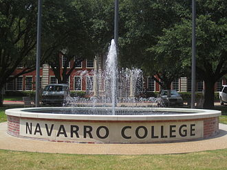 Navarro College - Navarro College sign off Texas State Highway 31