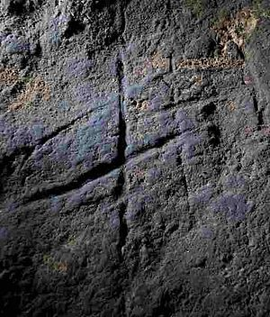 Neanderthals in Gibraltar - The prehistoric engraving found in Gorham's Cave in July 2012