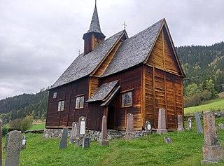 Lomen Stave Church wooden stave church in Vestre Slidre, Norway