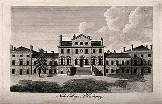 New College at Hackney - Image: New College (Hackney House), Hackney; a large building in th Wellcome V0013424