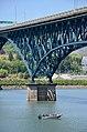 Newly repainted Ross Island Bridge - pier detail view (2019).jpg
