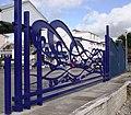 Newquay station, Decorative Ironwork barrier - geograph.org.uk - 1548408.jpg