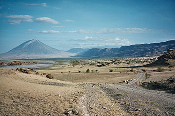 Landscape in Northern Tanzania, inside the gre...