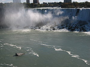 English: Niagara falls from behind