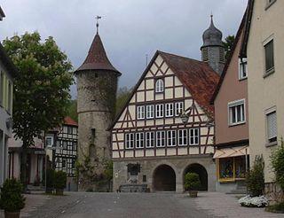 Niederstetten Place in Baden-Württemberg, Germany