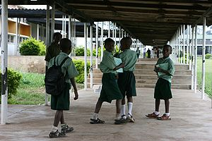 Children at school in Nigeria