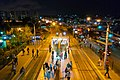 Night at the tram stop,Zeytinburnu istanbul Turkey - panoramio.jpg