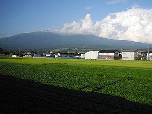 Nikaho, Akita - Nikaho and Mount Chōkai