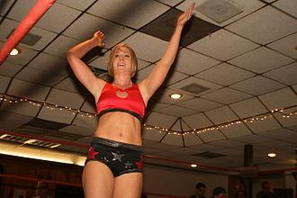Nicole Raczynski - Nikki Roxx at a Women Superstars Uncensored show in 2010