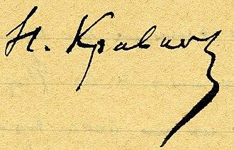 Nikolai Kravkov - Image: Nikolai Kravkov's Signature