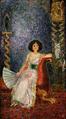 Nils Dardel - Porträtt av fru Ellen Roosval, f. von Hallwyl.png