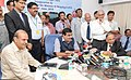 Nitin Gadkari addressing after inaugurating the On-line collection of Light dues system of Director General of Lighthouses & Lightships, in New Delhi. The Secretary, Ministry of Shipping, Shri Rajive Kumar is also seen.jpg
