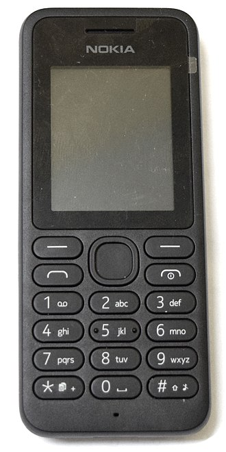 Feature phone - Nokia 130 (c. 2014); a typical feature phone.