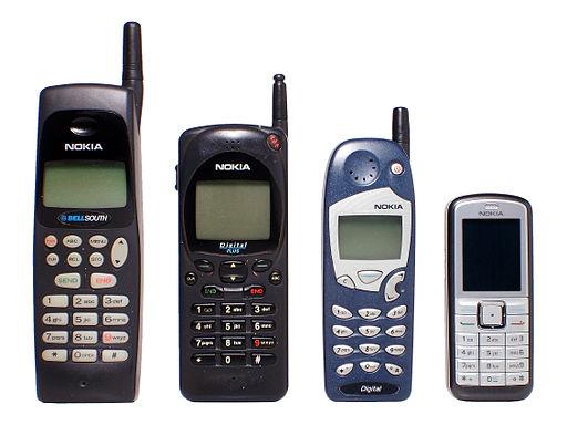 Nokia evolucion tamaño