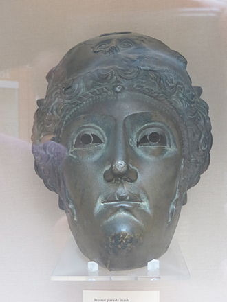 Nola - A 2nd-century bronze parade mask found in a Roman tomb at Nola