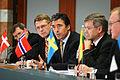 Nordiska och baltiska statsministrar haller presskonferens under Nordiska radets session i Stockholm.jpg