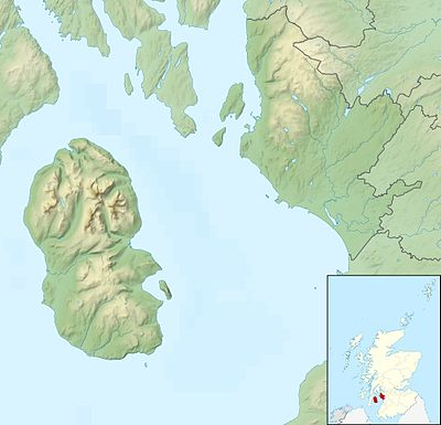 Location map Scotland North Ayrshire