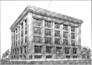 North Pacific College - Drawing of the 1911 building