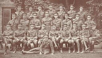 North Staffordshire Regiment - Image: North Staffs 1 Bn officers 1914