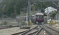 Noseden 7200 test run at Myokenguchi Station.jpg