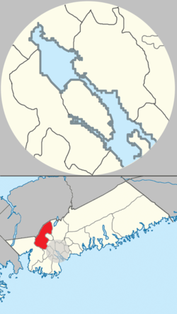 Location of Hammonds Plains, Upper Sackville and Beaverbank planning area of municipal Halifax