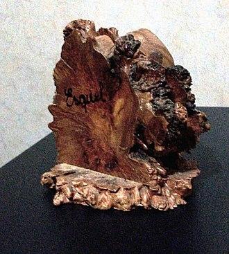 Nothofagus dombeyi - An ornamental clipboard made of Nothofagus dombeyi heartwood